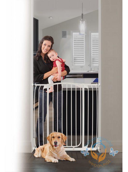 Extra magas önfeszítős ajtórács kutyák számára is (97,5-106 cm)