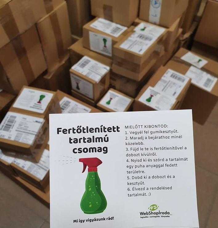 Fertőtlenített csomag